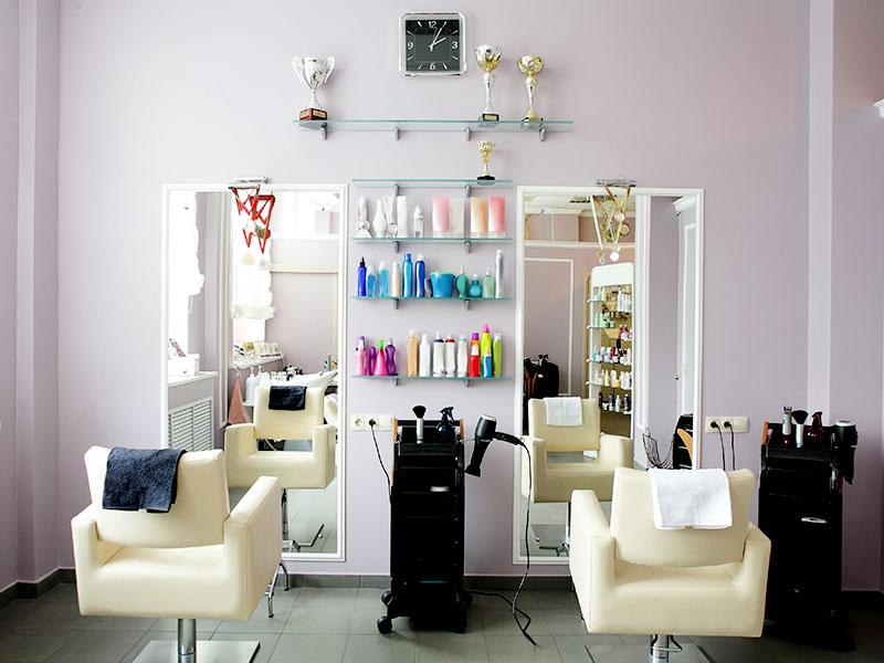 Minimal style beauty salon