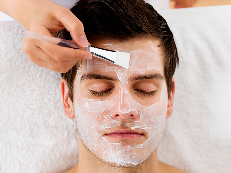 Take a skin care mask once a month